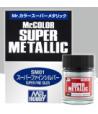 SM03 краска художественная SUPER IRON 10мл (стальной металлик) GUNZE SANGYO