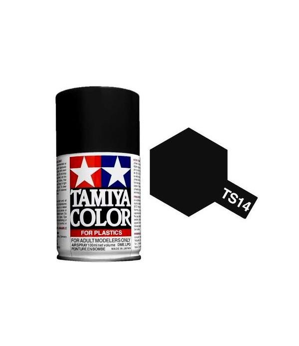 TS-14 Black (спрей) краска-спрей в баллоне 100 мл TAMIYA 85014