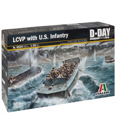 Десантный катер с американской пехотой LCVP with US Infantry ITALERI 6524