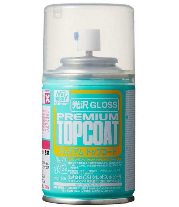 B-601 Лак-спрей Mr.Premium TopCoat Gloss Spray 88 мл GUNZE SANGYO