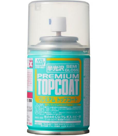 B-602 Лак-спрей Mr.Premium TopCoat Semi-Gloss Spray 88 мл GUNZE SANGYO