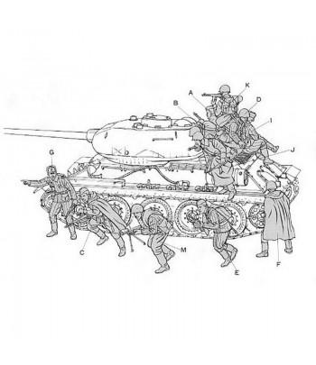 Советский танковый десант (12 фигур) TAMIYA 35207