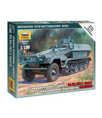 "Немецкий бронетранспортер ""Ханомаг"" SD.KFZ.251/1 AUSF.B ЗВЕЗДА 6127"