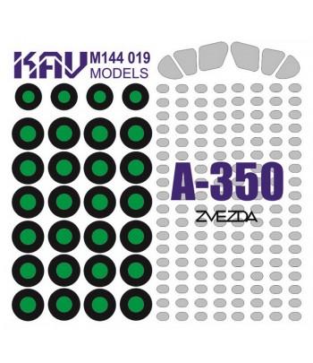 Окрасочная маска на А-350 (Звезда) KAVmodels KAV M144 019