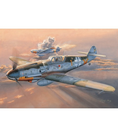 Cамолет Мессершмитт Bf 109G-6 (ранний) TRUMPETER 02296