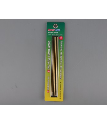 Латунные трубки Set 5 длинна 20 см (1 шт Ф 1,3х200 мм; 1 шт Ф 1,8х200 мм) MasterTools 09946