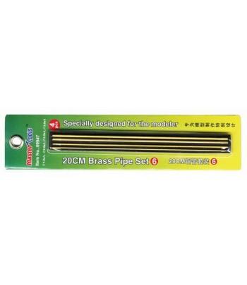 Латунные трубки Set 6 длинна 20 см (1 шт Ф 1,5х200 мм; 1 шт Ф 2,0х200 мм) MasterTools 09947