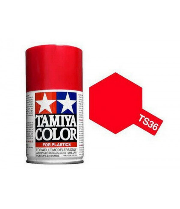 TS-36 Fluorescent Red (Флуоресцентная красная) краска-спрей 100 мл. TAMIYA 85036