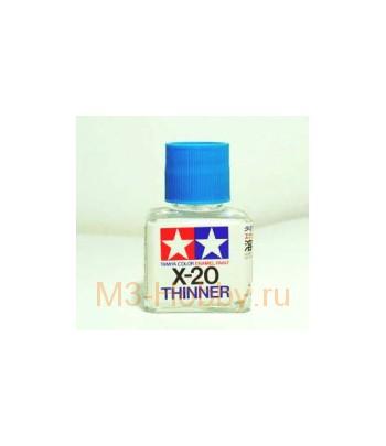 X-20 Enamel Thinner растворитель для эмали 40 мл. TAMIYA 80030