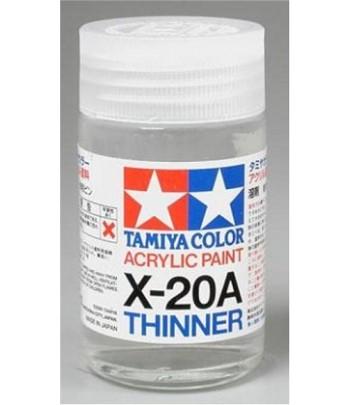 X-20A Acrylic Thinner Растворитель для акрила - 46 мл TAMIYA 81030