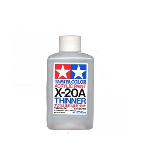 X-20A Acrylic Thinner Растворитель для акрила - 250 мл. TAMIYA 81040