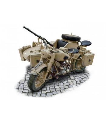 Немецкий мотоцикл с коляской BMW R75 WWII ITALERI 7403