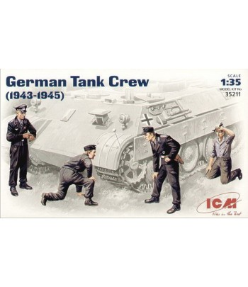 Фигуры Германский танковый экипаж (1943-1945) ICM 35211