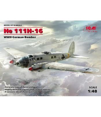Германский бомбардировщик ІІ МВ, He 111H-16 ICM 48263