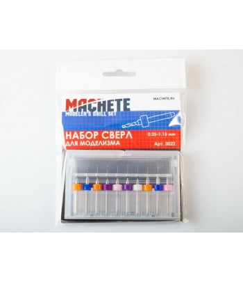 Набор сверл для моделизма 0.25-1.15 мм MACHETE 0022