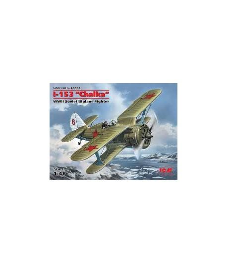 """И-153 """"Чайка"""" Советский истребитель-биплан II MB ICM 48095"""