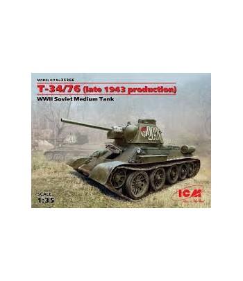 T-34/76 (производство конца 1943г) Советский средний танк II MB ICM 35366