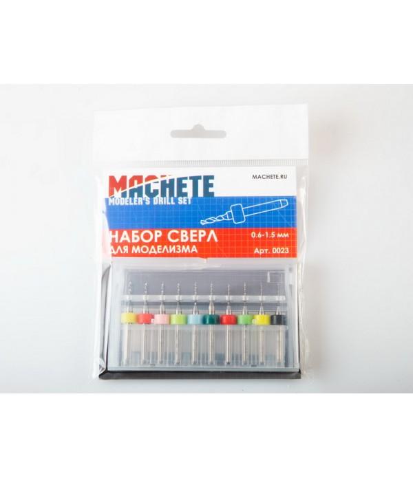 Набор сверл для моделизма 0.6-1.5 мм MACHETE 0023