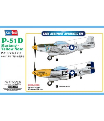 Самолет P-51D Mustang - Yellow Nose HOBBY BOSS 85808