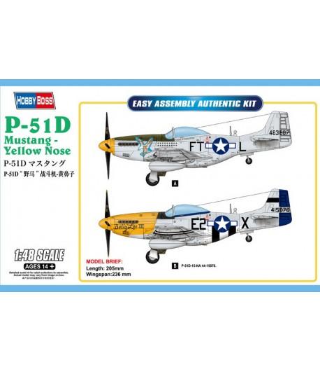 Самолет P-51D Mustang - Yellow Nose HOBBY BOSS 85808