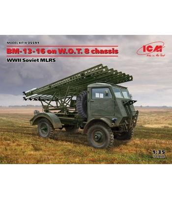 БМ-13-16 на шасси W.O.T. 8, Советская РСЗО WWІІ ICM 35591