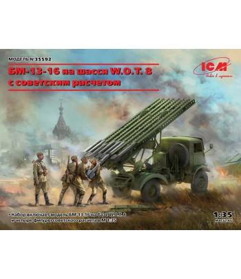 БМ-13-16 на шасси W.O.T. 8 с советским расчетом WWІІ ICM 35592