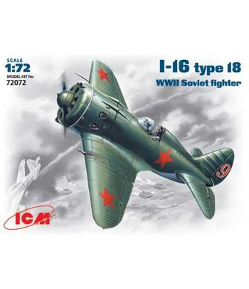 Самолет И-16 тип 18 Советский истребитель WWII ICM 72072