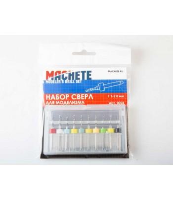 Набор сверл для моделизма 1.1-2.0 мм MACHETE 0024
