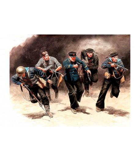 Фигуры Советские морские пехотинцы, в Атаке, в 1941-1942 гг. Восточный Фронт, Битва из Серии MB35152
