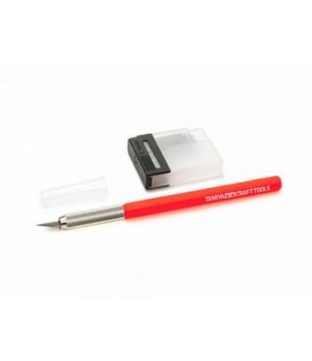 Дизайнерский нож с 25 дополнительными лезвиями, красная ручка TAMIYA 69938