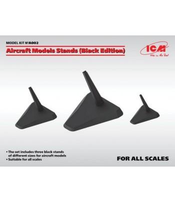 Подставки для моделей самолетов (Black edition) 3 шт. ICM A002