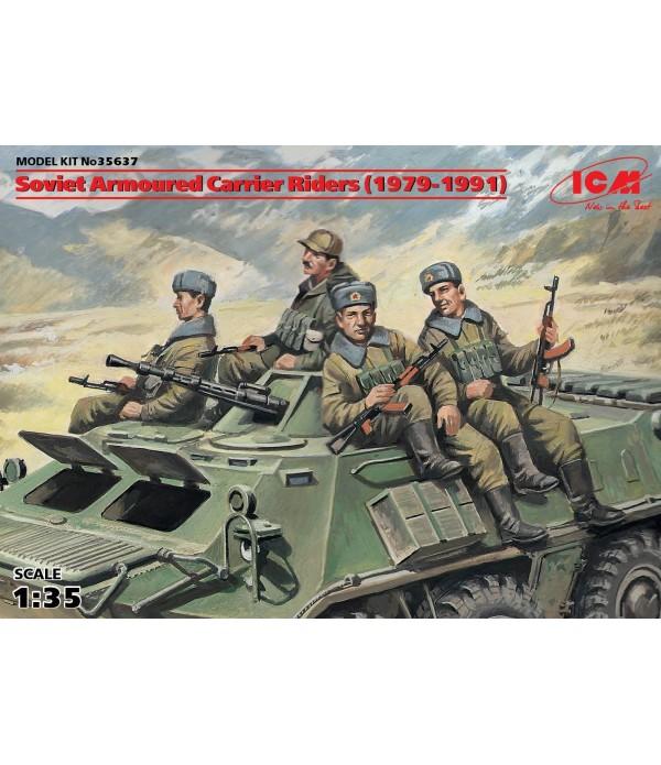 Фигуры Советские десантники на бронетехнике (1979-1991) ICM 35637