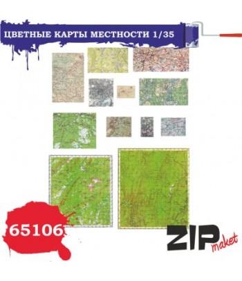 Цветные карты местности 1/35 ZIP-maket 65106