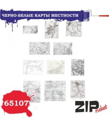 Черно-белые карты местности 1/35 ZIP-maket 65107