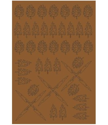 Сухие тропические листья ZIP-maket 69520