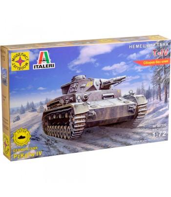 Немецкий танк Т-IV (1:72) (модель для сборки без клея) МОДЕЛИСТ 307222