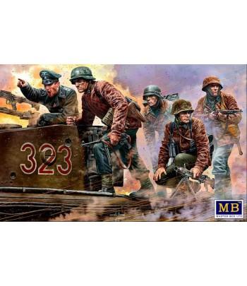 Фигуры, Немецкие военнослужащие, 1944-1945. Пулемет там! 1:35 MASTERBOX 35218