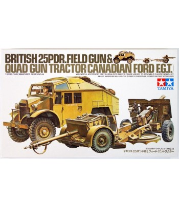 Английский тягач с 25 фут.пушкой (25 Pdr. Field Gun & Quad Gun Tractor) (1:35) TAMIYA 35044
