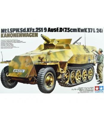 Полугусеничный БТР Sd.kfz.251/9 Ausf.D Kanonenwagen. (1:35) TAMIYA 35147