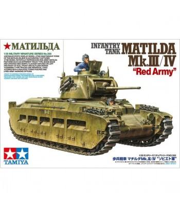 Танк Matilda MK III/IV в Красноармейском варианте в комплекте с 2-мя фигурами (1:35) TAMIYA 35355