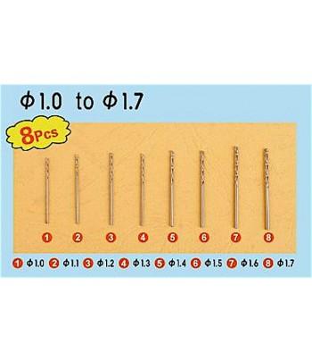 Сверла (набор №1) 0,3-1,0мм (8 шт) MasterTools 09954