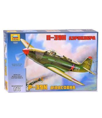 """Истребитель П-39Н """"Аэрокобра"""" (P-39N Airacobra) ЗВЕЗДА 7231"""
