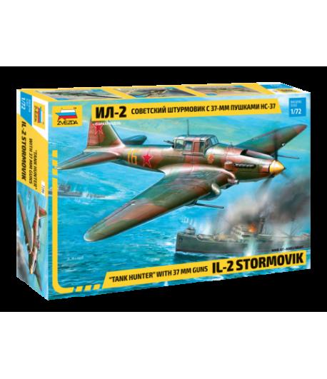 Советский штурмовик Ил-2 с 37мм пушкой НС-37 ЗВЕЗДА 7286