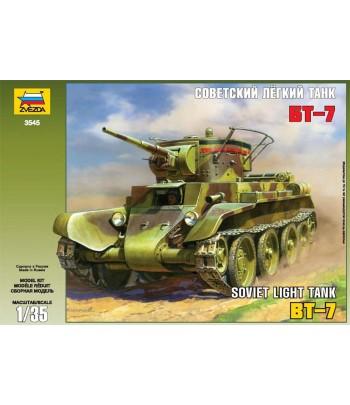 Советский легкий танк БТ-7 с экипажем ЗВЕЗДА 3545
