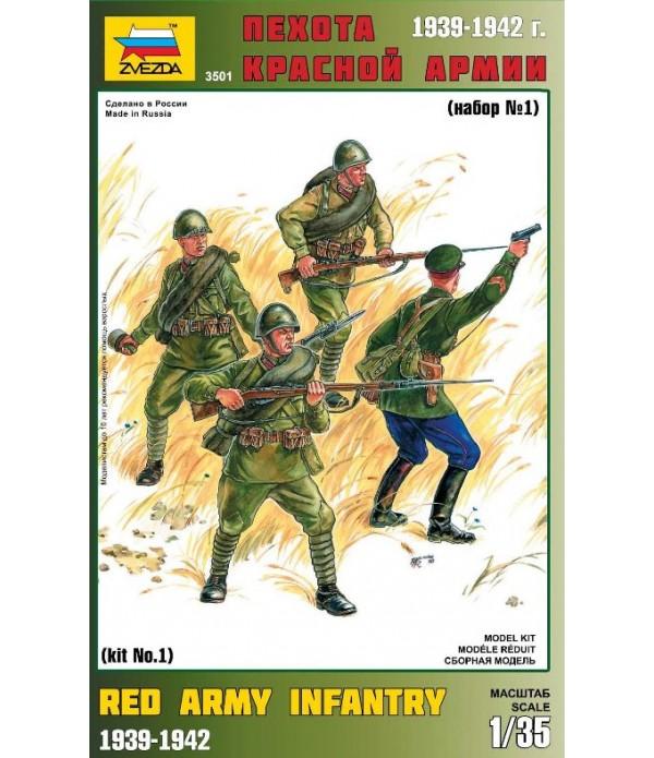 Пехота Красной Армии набор N1 ЗВЕЗДА 3501