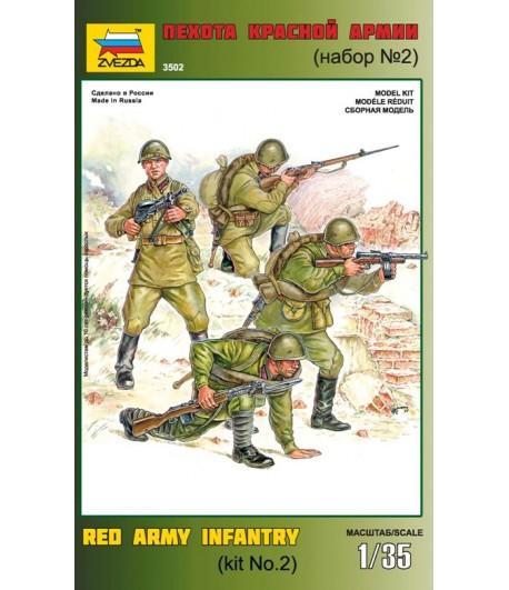 Пехота Красной Армии набор N2 ЗВЕЗДА 3502