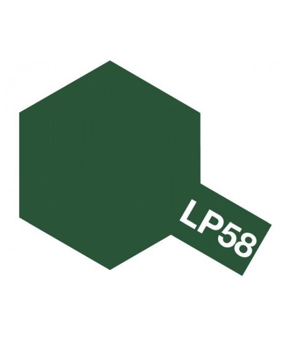 LP-58 NATO green (Зеленая НАТО) лаковая краска 10 мл. TAMIYA 82158