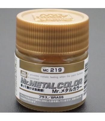 MC-219 Mr.Metal Color Акрил-уретан 10мл BRASS (латунь, металлик) GUNZE SANGYO