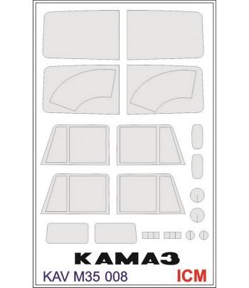 """Окрасочная маска на """"КАМАЗ"""" KAVmodels KAV M35 008"""