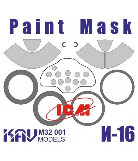 Окрасочная маска на И-16 тип 24 (ICM) KAVmodels KAV M32 001
